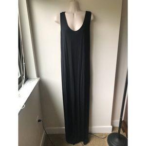 🌿 Boohoo Black Simple & Comfy Black Maxi Dress